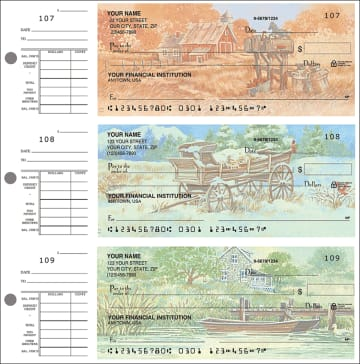 country 'scapes desk set checks - click to preview