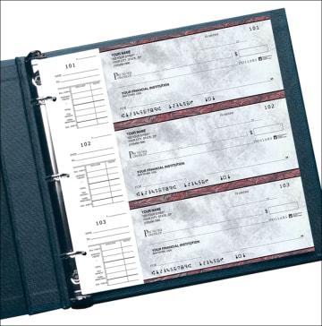 executive gray desk set checks - click to preview