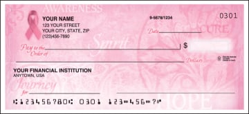 Side Tear - Hope for the Cure Checks – click to view product detail page