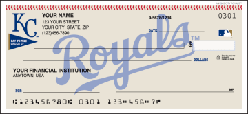 Kansas City Royals™ Checks – click to view product detail page