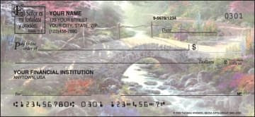 Serenity by Kinkade -Spanish Verse Checks – click to view product detail page