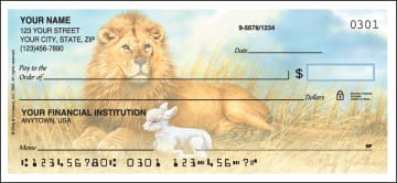 Lion and the Lamb Checks – click to view product detail page