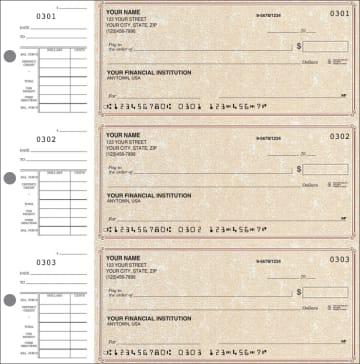Parchment Desk Set Checks - click to view larger image