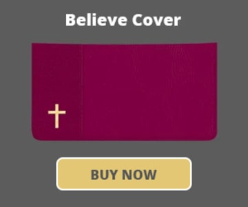 Believe Checkbook Cover