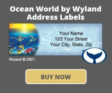 Ocean World by Wyland Address Labels
