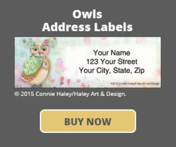 Owls Address Labels