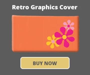 Retro Graphics Checkbook Cover