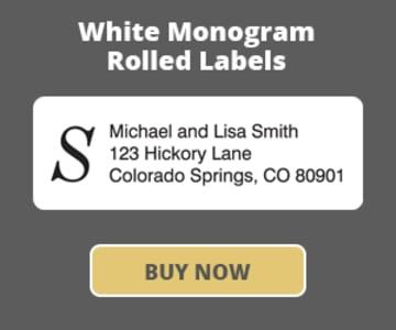 White with Monogram - 500