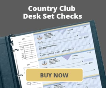 Country Club Desk Set Checks