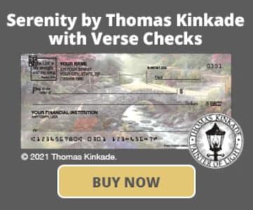 Serenity by Kinkade with Verse Checks