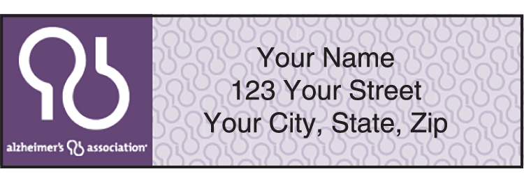 Alzheimer's Association Address Labels - click to view larger image