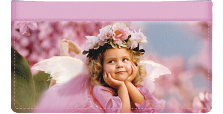 Angel Faces Checkbook Cover - click to view larger image
