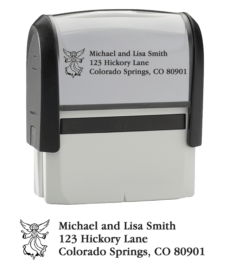 Angel Address Stamp - click to view larger image