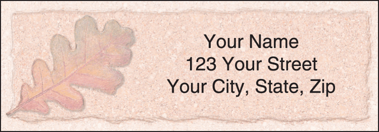 Enlarged view of Autumn Leaf Address Labels