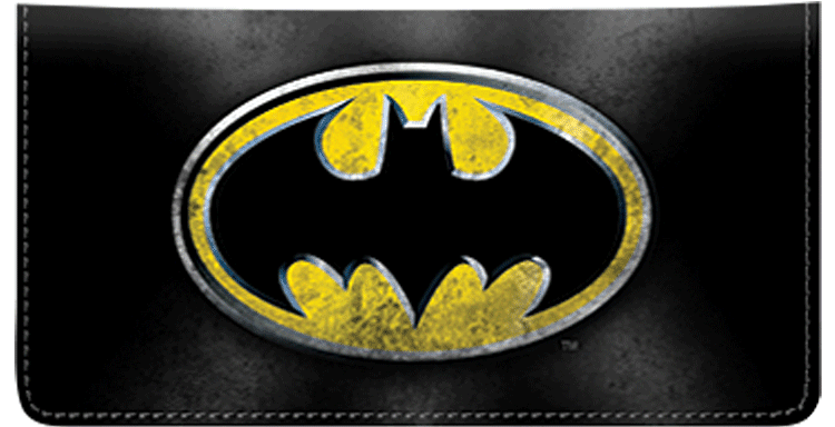 Enlarged view of Batman Checkbook Cover