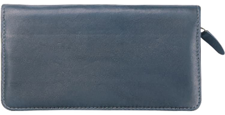 Black Zippered Checkbook Cover - click to view larger image