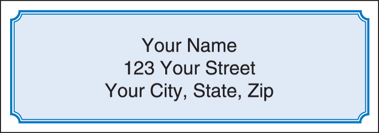 Blue Classic Address Labels - click to view larger image