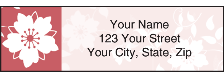 Botanical Silhouettes Address Labels - click to preview