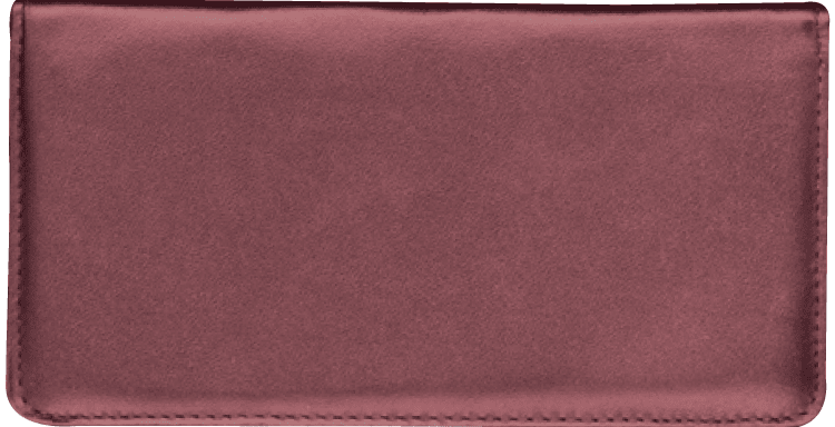 Burgundy Side Tear Checkbook Cover