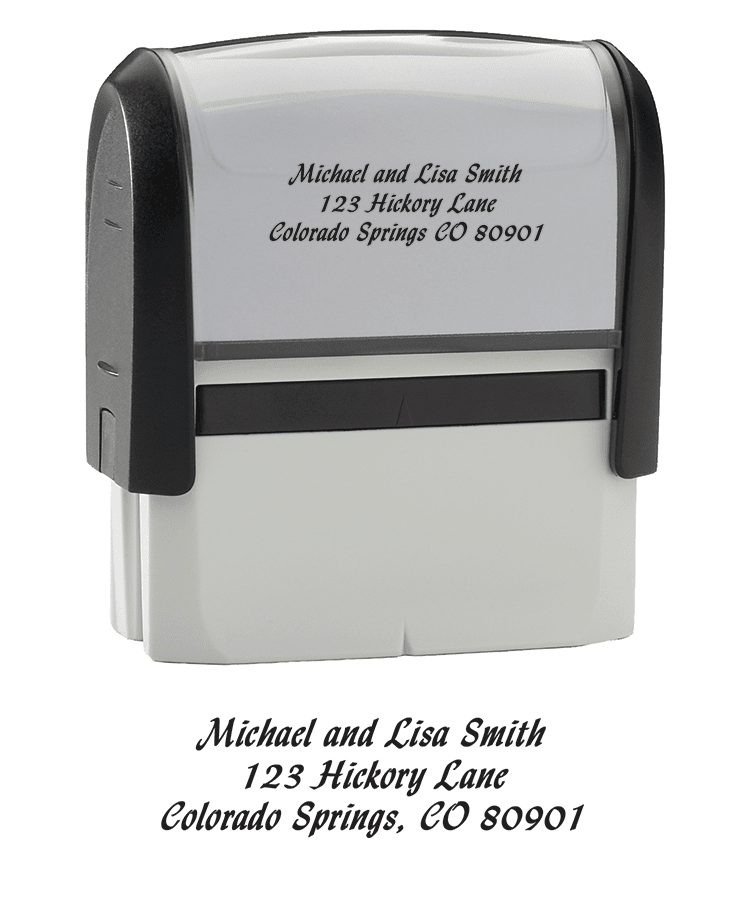 Enlarged view of Calligraphy - Return Address Stamp