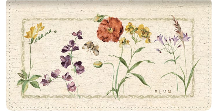Cheri Blum Splendor Checkbook Cover - click to view larger image