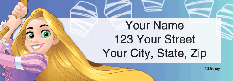 disney princess address labels - click to preview