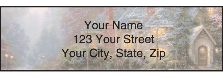 Quiet Escapes by Thomas Kinkade Address Labels - click to preview
