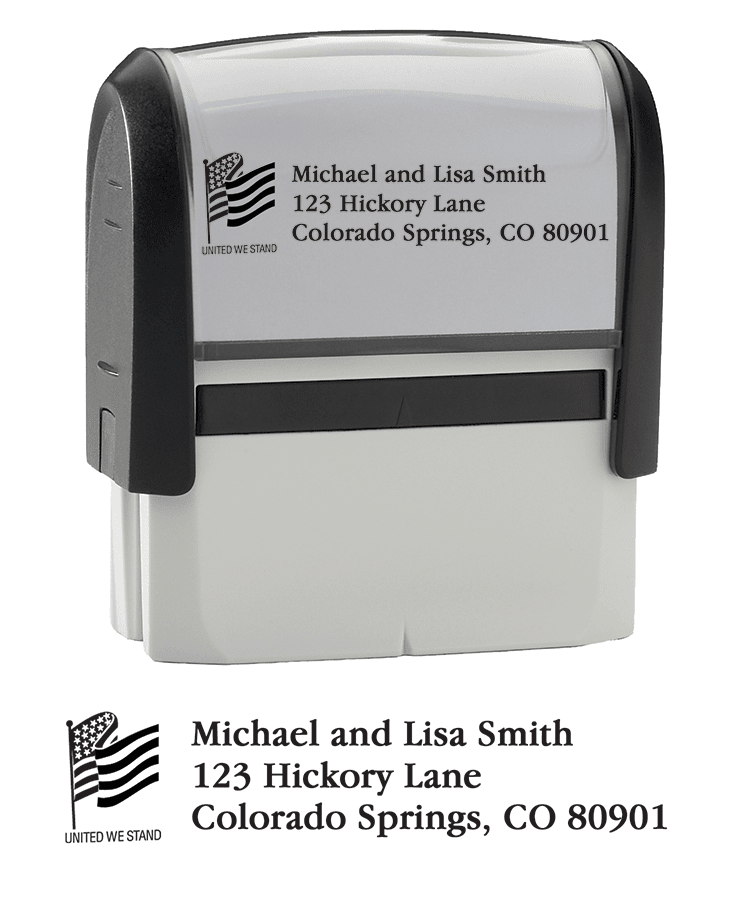 Flag - Return Address Stamp - click to view larger image