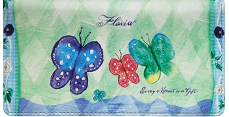 Enlarged view of Flavia® Celebrations of Life Checkbook Cover