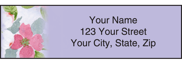Enlarged view of flower garden address labels