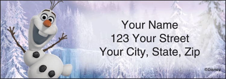 Disney's Frozen Address Address Labels - click to view larger image