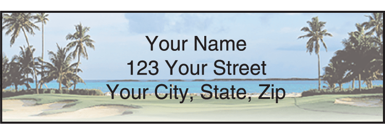 Golf Escapes Address Labels - click to view larger image