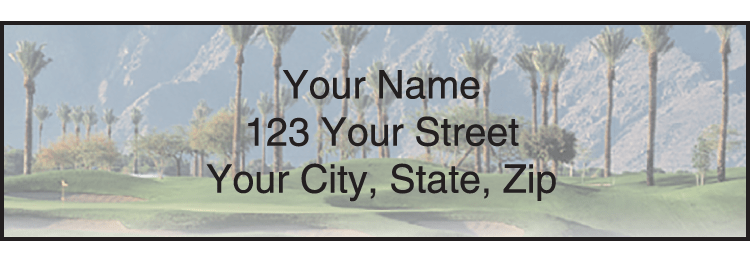 Golf Escapes Address Labels - click to preview