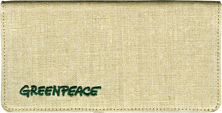Greenpeace Checkbook Cover - click to view larger image