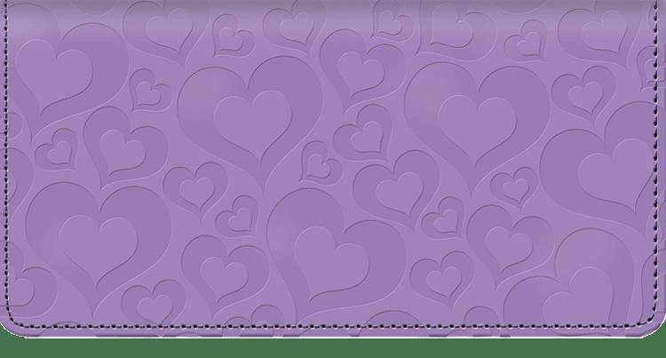 Hearts Checkbook Cover