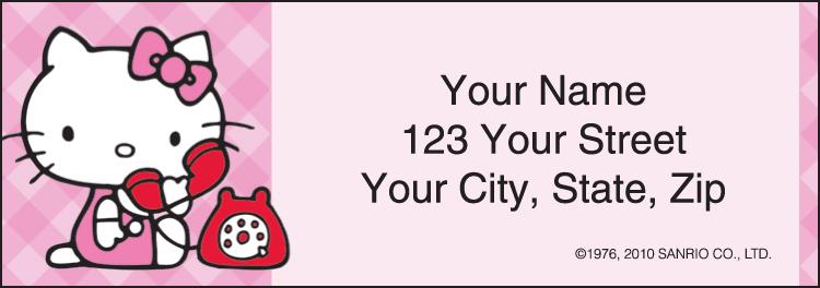 Enlarged view of Hello Kitty® Address Labels