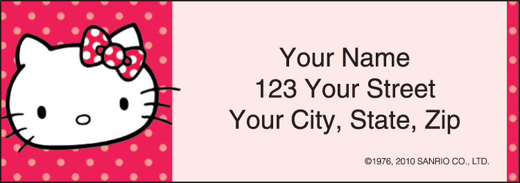 Hello Kitty® Address Labels - click to preview