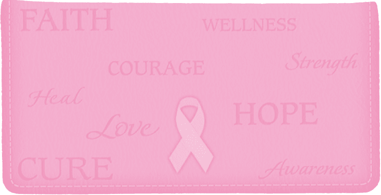 Hope for the Cure Side Tear Checkbook Cover
