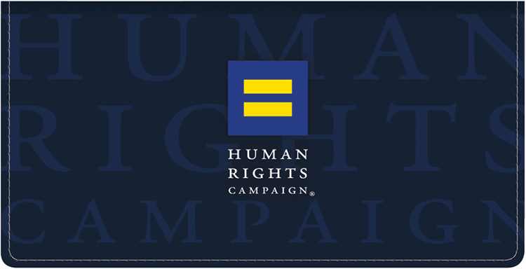 Human Rights Campaign Checkbook Cover