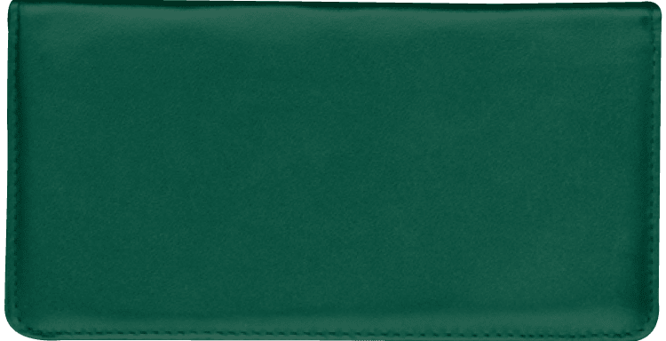 Enlarged view of Hunter Green Checkbook Cover