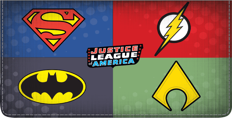 The Justice League Checkbook Cover - click to view larger image