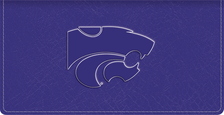 Kansas State Logo Checkbook Covers - click to view larger image