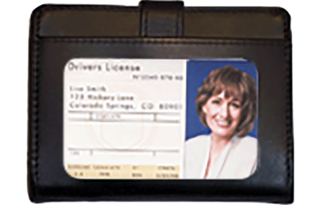 Black Leather Debit Organizer