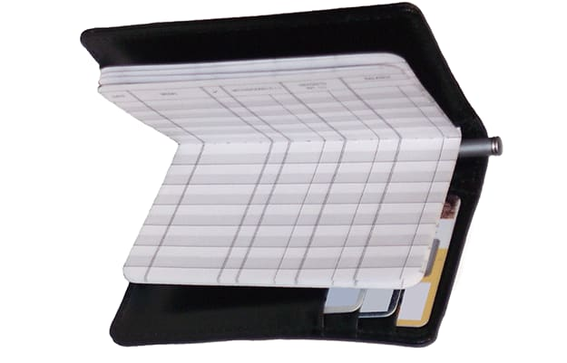 Black Leather Debit Organizer - click to preview