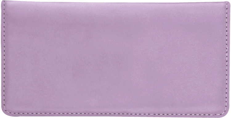 Lilac Checkbook Cover - click to view larger image