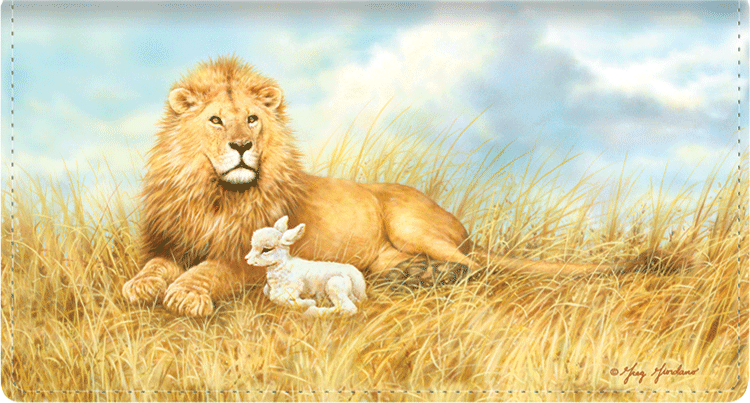 Lion and the Lamb Checkbook Cover