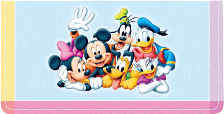 Disney Mickey's Adventures Side Tear Checkbook Cover - click to view larger image