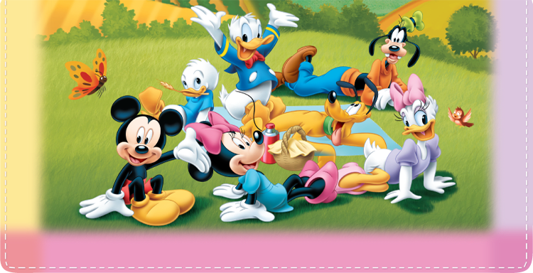Enlarged view of Disney Mickey's Adventures Checkbook Cover