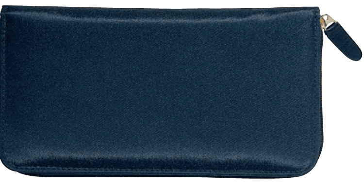 Enlarged view of Elite Microfiber Zippered Checkbook Cover