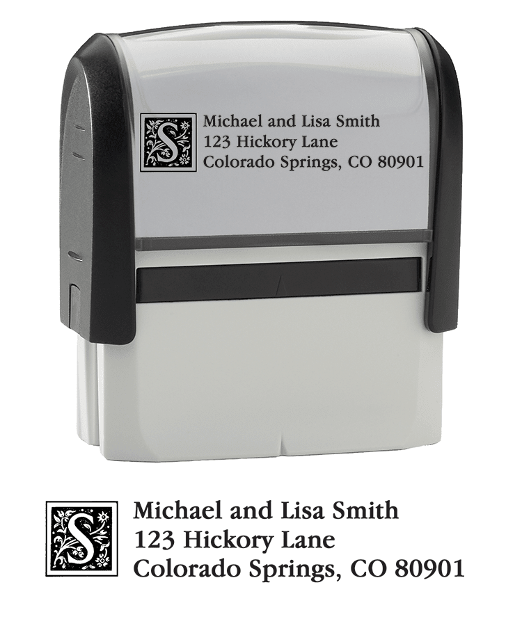 Enlarged view of Monogram - Return Address Stamp